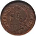 Chile, Chile: Republic Centavo 1886-So MS64 Red and Brown NGC,...