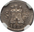 Chile, Chile: Ferdinand VII 1/4 Real 1817-So MS64 NGC,...