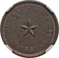 Chile, Chile: Republic 1/2 Centavo 1851 MS61 Brown NGC,...