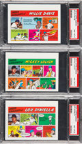 Baseball Cards:Lots, 1973 Topps Test Comics PSA NM-MT 8 Trio (3). ...