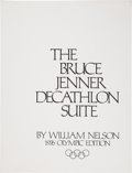Olympic Collectibles:Autographs, 1976 The Bruce Jenner Decathlon Suite Signed Lithographs Lot of 10....