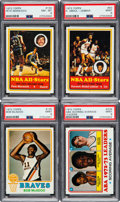 Basketball Cards:Lots, 1973 and 1978 Topps Basketball High Grade Collection (400+). ...