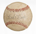 Baseball Collectibles:Balls, 1930's Babe Ruth Single Signed Baseball....