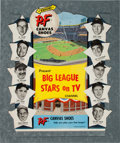 """Baseball Collectibles:Others, Mid-1950's P.F. Canvas Shoes """"Big League Stars on TV"""" Die-Cut Advertising Sign...."""