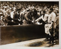 Baseball Collectibles:Photos, 1928 Babe Ruth & Lou Gehrig Original News Photograph, PSA/DNA Type 1....