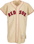 Baseball Collectibles:Uniforms, 1956 Ted Williams Game Worn Boston Red Sox Jersey, MEARS A7....