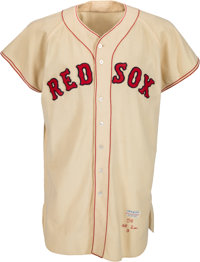 1956 Ted Williams Game Worn Boston Red Sox Jersey, MEARS A7