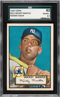 1952 Topps Mickey Mantle #311 SGC 82 EX/NM+ 6.5