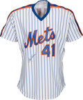 Baseball Collectibles:Uniforms, 1990 Tom Seaver Game Worn & Signed New York Mets Old Timers Jersey....