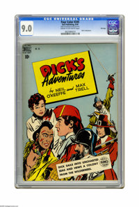 Four Color #245 Dick's Adventures -- File Copy (Dell, 1949) CGC VF/NM 9.0 Cream to off-white pages. Overstreet 2005 VF/N...