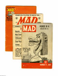 Magazines:Mad, Mad Group (EC, 1954-55) Condition: Average GD. This ten-issue lot of early, pre-magazine format Mads includes #11 (cover... (Total: 10 Comic Books)