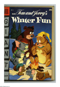 Golden Age (1938-1955):Miscellaneous, Dell Giant Comics Tom and Jerry Winter Carnival Bound Volume (Dell, 1952-55). These are Western Publishing file copies that ...