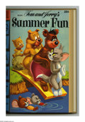 Golden Age (1938-1955):Miscellaneous, Dell Giant Comics Tom and Jerry Summer Fun #1-4 Bound Volume (Dell, 1954-57). These are Western Publishing file copies that ...