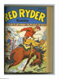 Golden Age (1938-1955):Western, Red Ryder Comics #49-60 Bound Volume (Dell, 1947-48). These areWestern Publishing file copies of Issues #49 (Fred Harmon ph...