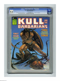 Magazines:Miscellaneous, Kull and the Barbarians #1 (Marvel, 1975) CGC NM 9.4 Off-white towhite pages. Mike Whelan cover. John Severin frontispiece....