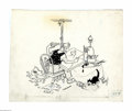 Original Comic Art:Sketches, Rube Goldberg - Cartoonist Illustration Original Art (undated). Rube Goldberg's cartoons are incredible displays of ingenuit...