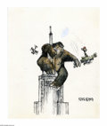 "Original Comic Art:Sketches, Jeff MacNelly - King Kong Illustration Original Art (1977). King-cartoonist Jeff McNelly drew his lighthearted version of ""K..."