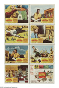 """Movie Posters:Fantasy, The 3 Worlds of Gulliver (Columbia, 1960). Lobby Card Set of 8 (11"""" X 14""""). Lemuel Gulliver (Kerwin Mathews) sets sail to In... (Total: 8 Items)"""