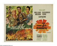 "The 7th Dawn (United Artists, 1964). Half Sheet (22"" X 28""). An American soldier (William Holden) stays behind..."