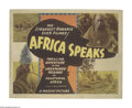 """Movie Posters:Documentary, Africa Speaks (Columbia, 1930). Title Lobby Card (11"""" X 14""""). Paul Hoefler leads an expedition across the jungles and plains..."""