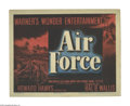 "Movie Posters:War, Air Force (Warner Brothers, 1943). Title Lobby Card (11"" X 14"").The most interesting thing about this film is that its char..."