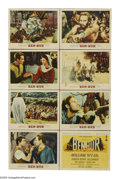 """Movie Posters:Action, Ben-Hur (MGM, R-1960). Lobby Card Set of 8 (11"""" X 14""""). The epicdirected by William Wyler is the first of only three films ...(Total: 8 Items)"""