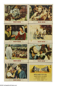 "Ben-Hur (MGM, R-1960). Lobby Card Set of 8 (11"" X 14""). The epic directed by William Wyler is the first of onl..."