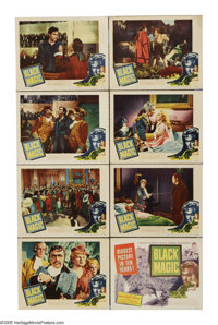 "Black Magic (United Artists, 1949). Lobby Card Set of 8 (11"" X 14""). Orson Welles is the great magician Caglio..."