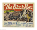 "Movie Posters:Adventure, The Black Rose (20th Century Fox, 1950). Title Lobby Card (11"" X14""). The adventures of the Saxon nobleman Walter of Gurnie..."