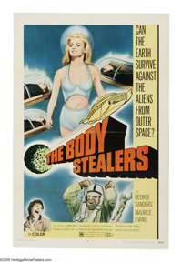 "The Body Stealers (Allied Artists, 1970). One Sheet (27"" X 41""). British paratroopers are disappearing out of..."