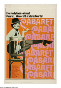 "Cabaret (United Artists, R-1974). Poster (40"" X 60""). Bob Fosse directs this Oscar-winning adaptation of the f..."