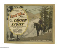 """The Canyon of Light (Fox, 1926). Title Lobby Card (11"""" X 14""""). Tom Mix was one of the brightest screen stars a..."""