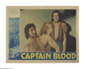 "Movie Posters:Adventure, Captain Blood (Warner Brothers, 1935). Lobby Card (11"" X 14"").Errol Flynn plays Peter Blood, a physician who is forced to b..."