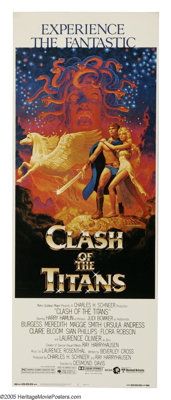 """Clash of the Titans (MGM, 1981). Insert (14"""" X 36""""). The adventures of Perseus in his quest to rescue Andromed..."""