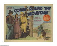 """Comin' Round the Mountain (Republic, 1936). Title Lobby Card (11"""" X 14""""). Gene Autry is a Pony Express rider w..."""
