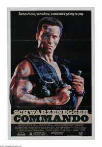 """Commando (20th Century Fox, 1985). One Sheet (27"""" X 41""""). """"You're a funny man, Sully, I like you. That's..."""