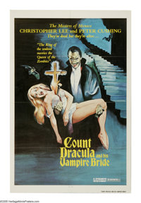 "Count Dracula and His Vampire Bride (Columbia, 1978). One Sheet (27"" X 41""). Christopher Lee is back one last..."