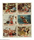 "Movie Posters:Adventure, The Crimson Pirate (Warner Brothers, 1952). Lobby Cards (6) (11"" X14""). ""In a pirate ship, in pirate waters, in a pirate wo...(Total: 6 Items)"