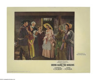"Drums Along the Mohawk (20th Century Fox, 1939). Deluxe Lobby Cards (3) (11"" X 14""). Henry Fonda and Claudette..."