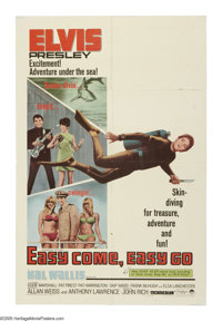 "Easy Come, Easy Go (Paramount, 1967). One Sheet (27"" X 41""). Capturing buried treasure and women's hearts is t..."