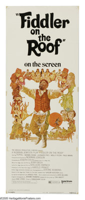 """Fiddler on the Roof (United Artists, 1972). Insert (14"""" X 36""""). """"I know, I know. We are Your chosen peopl..."""