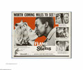 """Movie Posters:Drama, Flame in the Streets (Rank, 1961). Half Sheet (22"""" X 28""""). Love overcomes the taboos of interracial dating in this dramatic ..."""