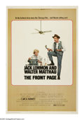 """Movie Posters:Comedy, The Front Page (Universal, 1975). Poster (40"""" X 60""""). Jack Lemmon and Walter Matthau, in the fourth of eleven films they mad..."""