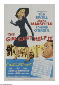 """The Girl Can't Help It (20th Century Fox, 1956). One Sheet (27"""" X 41""""). Perhaps the greatest combination of ol..."""