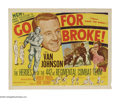 """Movie Posters:War, Go for Broke! (MGM, 1951). Half Sheet (22"""" X 28""""). The story of the442th Regiment in WWII, made up of volunteer Japanese-Am..."""