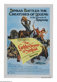 """The Golden Voyage of Sinbad (Columbia, 1973). One Sheet (27"""" X 41""""). The second of three Sinbad voyages that w..."""