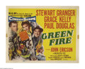 "Movie Posters:Adventure, Green Fire (MGM, 1954). Title Lobby Card (11"" X 14""). StewartGranger is an emerald prospector who discovers a sizable find ..."