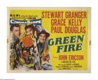 "Green Fire (MGM, 1954). Title Lobby Card (11"" X 14""). Stewart Granger is an emerald prospector who discovers a..."