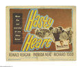 """Movie Posters:War, Hasty Heart (Warner Brothers, 1950). Lobby Card (11"""" X 14""""). RonaldReagan and Patricia Neal star in this drama about a crit..."""