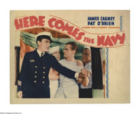 """Here Comes the Navy (Warner Brothers, 1934). Lobby Card (11"""" X 14""""). Sailor James Cagney and Chief Petty Offic..."""